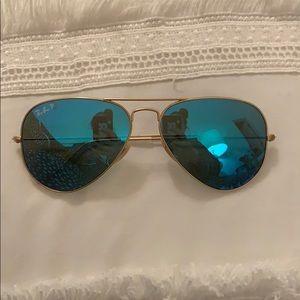 Blue Reflective Polarized Raybans